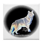 Ghost Wolf Tile Coaster