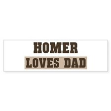 Homers Dad Bumper Sticker | Homers Dad Stickers | Homers Dad ...