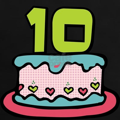 10 Year Old Birthday Cake Tee. Surprising your birthday friends with our