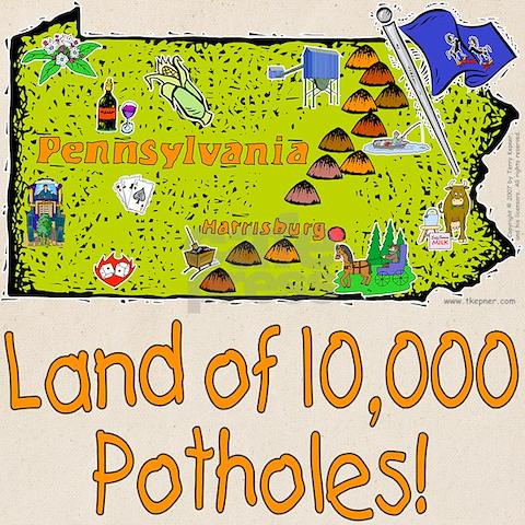 Pennsylvania potholes