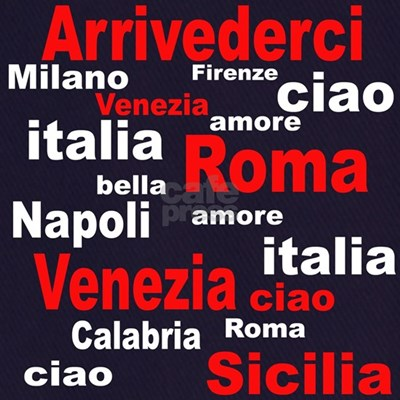 Show your Italian pride with this Italian sayings and cities.
