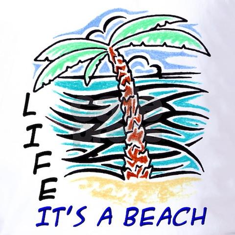beach scene tattoos. Tribal Tattoo Beach Scene T-