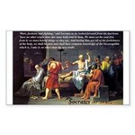 Death of Socrates Rectangle Sticker
