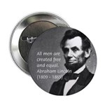 Abraham Lincoln Button