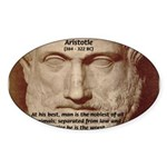 Greek Philosophers: Aristotle Oval Sticker