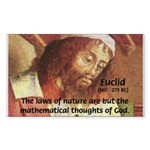 Euclid: Math and Philosophy Rectangle Sticker