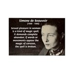 Simone De Beauvoir Rectangle Magnet