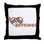 Betting Throw Pillow