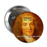 """French Philosopher: Voltaire 2.25"""" Button (10 pack"""