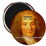 """French Philosopher: Voltaire 2.25"""" Magnet (10 pack"""
