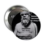 "Socrates: Wisdom from Leisure 2.25"" Button (10 pac"