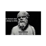 Wisdom of Socrates Rectangle Magnet (100 pack)