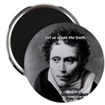 "Schopenhauer Philosophy Truth 2.25"" Magnet (100 pa"