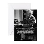 Philosophy Bertrand Russell Greeting Cards (Packag