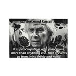 Bertrand Russell Philosophy Rectangle Magnet (10 p