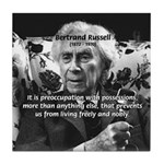 Bertrand Russell Philosophy Tile Coaster