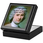 French Philosopher Rousseau Keepsake Box