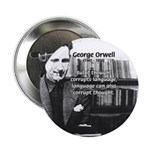 "George Orwell: Language Thought 2.25"" Button (10 p"