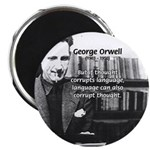 "George Orwell: Language Thought 2.25"" Magnet (10 p"