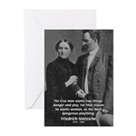 Man and Woman: Nietzsche Greeting Cards (Package o
