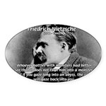 Christian Morality / Nietzsche Oval Sticker