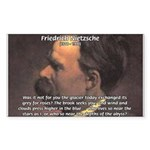 Master of Prose: Nietzsche Rectangle Sticker
