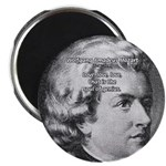 """Music, Genius and Mozart 2.25"""" Magnet (100 pack)"""