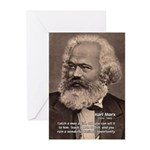 History Analyst Karl Marx Greeting Cards (Package