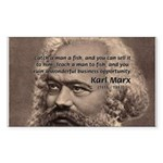 History Analyst Karl Marx Rectangle Sticker