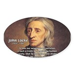 John Locke: Law of Love Oval Sticker