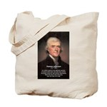 Media Thomas Jefferson Tote Bag
