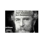 William James Life and Change Rectangle Magnet (10