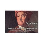 David Hume on Beauty Rectangle Magnet