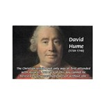 Christianity and David Hume Rectangle Magnet (100