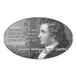 Power of Dreams: Goethe Oval Sticker