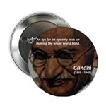 Peace Activist Gandhi Button