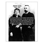Humanity Marie Curie Small Poster