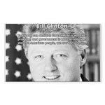 Government Bill Clinton Rectangle Sticker