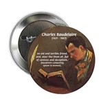 "French Poets Baudelaire 2.25"" Button (100 pack)"