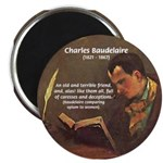 "French Poets Baudelaire 2.25"" Magnet (100 pack)"