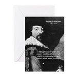 Philosopher Francis Bacon Greeting Cards (Package