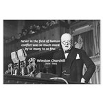World War II Churchill Large Poster