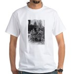 Marie & Pierre Curie Good Evil White T-Shirt
