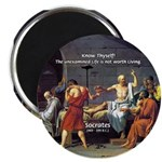 "Know Thyself Socrates Quote 2.25"" Magnet (100 pack"