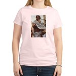 Aristotle Education Quote Women's Pink T-Shirt
