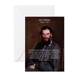 Leo Tolstoy Religion Morality Greeting Cards (Pack