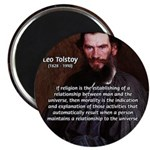 "Leo Tolstoy Religion Morality 2.25"" Magnet (100 pa"