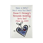 Boat Save the Date Rectangle Magnet (10 pack)