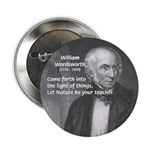 """Nature Wordsworth Poetry 2.25"""" Button (10 pack)"""