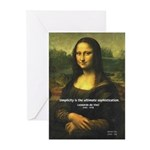 Mona Lisa: Da Vinci Quote Greeting Cards (Package